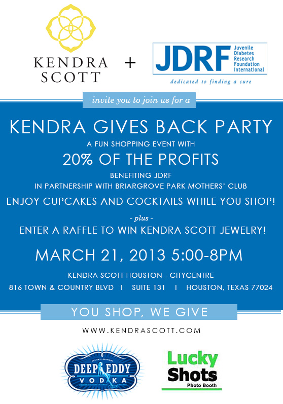 Kendra Scott Gives Back Party benefiting JDRF | Kendra Scott CITYCENTRE