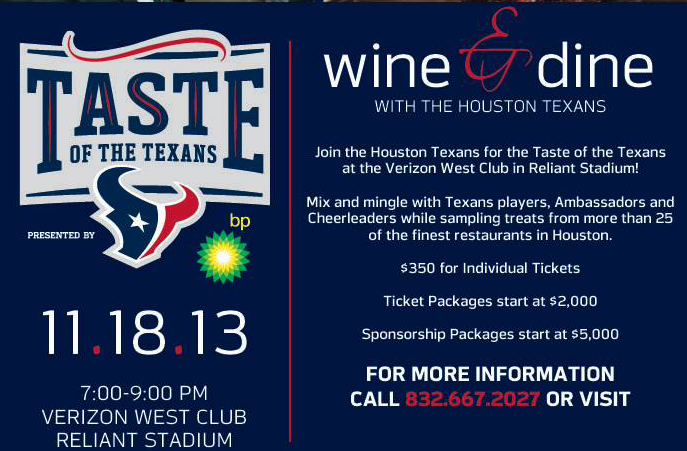 Taste of the Texans Event | Reliant Stadium
