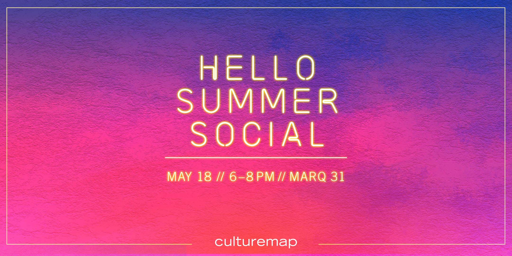 CultureMap Hello Summer Social at Marq 31 | Houston Photo Booth
